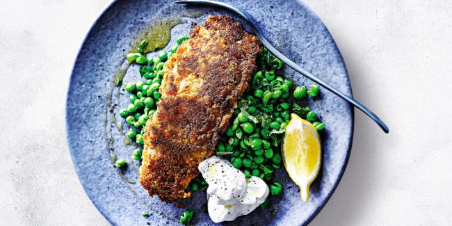 Crisp Tikka Fish With Crushed Minty Peas Weareliferuiner
